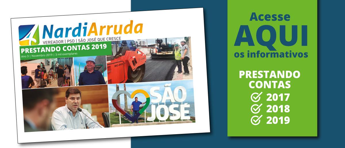 Link permanente para: PRESTANDO CONTAS 2019: vereador Nardi Arruda destaca principais conquistas e ações do ano